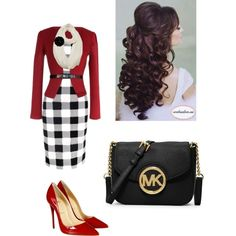 Now, Let's Get Down To Business by singin4jesus on Polyvore featuring Christian Louboutin and MICHAEL Michael Kors