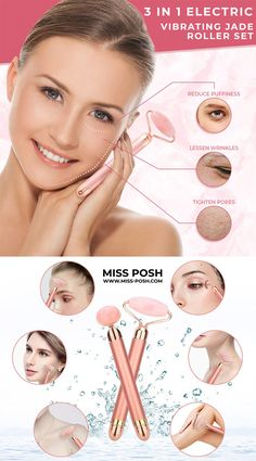 Face Roller, Roller Set, Beauty Corner, Facial Muscles, Gold Face, Massage Roller, Facial Massage, Puffy Eyes, Jade Stone