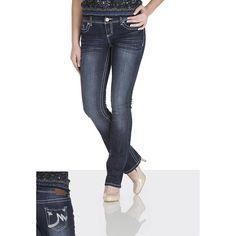 maurices Ellie Dark Wash Jeans ($29) ❤ liked on Polyvore featuring jeans, dark sandblast, mid rise straight jeans, dark denim jeans, slim straight fit jeans, dark jeans and 5 pocket jeans