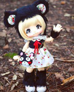 ❤Strawberry black Luna set!❤#wichipopochi #KIKIPOP #kiki #kinokojuice #handmade #etsy #animalhat #bearhat #bear #blackbear #americanblackbear #cathat #cat #MSD #bjd #azone #cute #strawberry #stars #redstar #lovely #cute #set #キキポップ#キキ#アゾン#キノコジュース