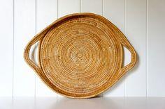 Vintage Papua New Guinea woven tray