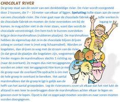 Chocolat River. Een spel waarbij samenwerken centraal staat. Een vervolgspel vind je onder de naam 'Magic Shoes'.