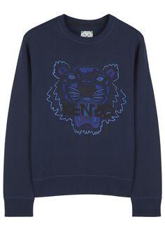 KENZO, Tiger Embroidered Sweatshirt (Navy)