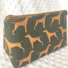 Hungarian Vizsla zip up make up bag pencil case
