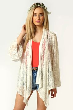 I'm in love with this Lola Lace Bell Sleeve Kimono. I must have it in black!