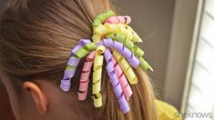 Make your own curly ribbon hair bows for the little ladies in your life. Now you can make one to match every adorable outfit.