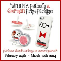 Mr. Peabody & Sherman Movie Prize Pack AND $25 Visa Gift Card #giveaway!