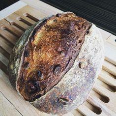 Sourdough with pine nuts & raisins  #sourdough #countryloaf #pinenuts #raisins #bread
