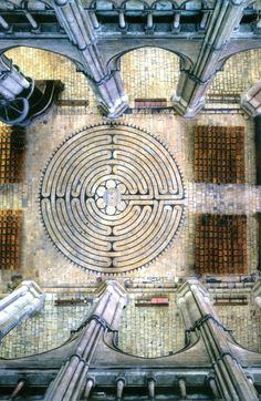 CHARTRES - #France must see the amazing cathedral of #Chartres and its famous #stainedglass rosettes and its labyrinth, shown here  http://stampingwithbibiana.blogspot.com/