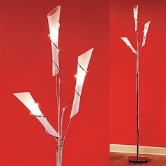 Romantic Decoration Idea! Light up any room with an elegant ambiance with this chrome and frosted glass floor lamp.