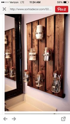 Jars for the bathroom
