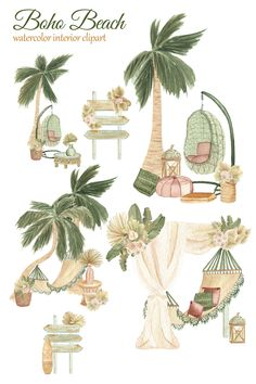 Kids Calendar, Calendar Design, Beach Picnic, Beach Party, Tropical Beach Houses, Clip Art, Scene Creator, Boho Decor, Planer