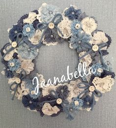 Pitsinauhakranssi/Laceribbonwreath Burlap Wreath, Wreaths, Handmade, Home Decor, Hand Made, Decoration Home, Door Wreaths, Room Decor, Burlap Garland