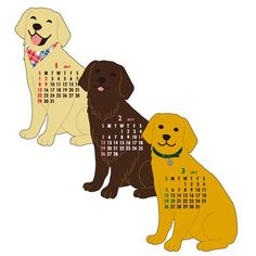 Greeting Life ANIMAL DIECUT CALENDAR Retriever C-915-ET Dear our 2017 animal and regular calendars lovers!! size : 150mm / 140mm/ 40mm  check more Greeting Life products