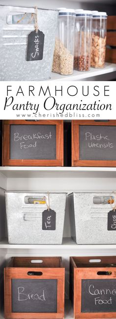 Farmhouse Pantry Org