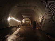 Interior of Svalbard Global Seed Vault tunnel