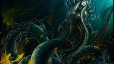 1920x1080 px sea monster image for desktops by Langham Brook