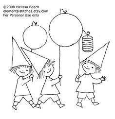 Lantern Parade An embroidery design from my favorite childhood bedtime stories. Diy Embroidery Thread, Embroidery Patterns Free, Christmas Embroidery, Embroidery Hoop Art, Card Patterns, Cross Stitch Embroidery, Embroidery Designs, Machine Embroidery, Boy Quilts