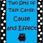 Cause and Effect can sometimes be a tricky reading concept to master but these 2 sets of Common Core Task Cards (64 task cards total) by The Teache...