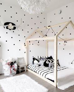 idée deco chambre enfant lit maison