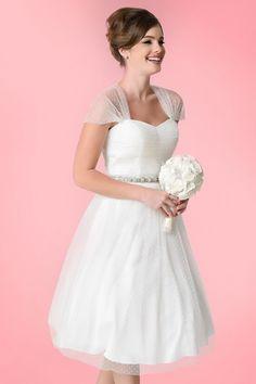 !!! - Unique Vintage White on White Swiss Dot Garden State Mesh Dress 16