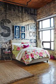 Love the bedroom. Not so much the duvet but loving the style. Especially for a loft.