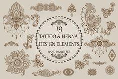 Tattoo and Henna set by Katika Shop on @creativemarket