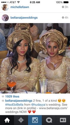 Aso ebi gold gele Nigerian wedding bride inspiration