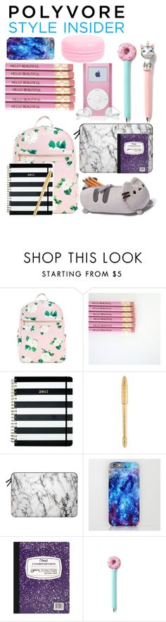 """Treat Yourself Sweet Back-To-School Supplies! "" by piscesgal0xy004 ❤ liked on Polyvore featuring Pusheen, Kate Spade, Louis Vuitton, Casetify, Mead, backpacks, contestentry and PVStyleInsiderContest"