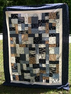 Moda Fabrics - Hearty Good Wishes Yellow Brick Road (pattern) Lap Size #quilt #nautical