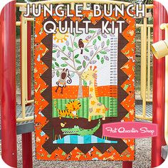 Jungle Bunch Quilt Kit  Includes Go Bananas Quilt Pattern by It's Sew Emma for Cut Loose Press Very affordable, great for a baby shower gift!