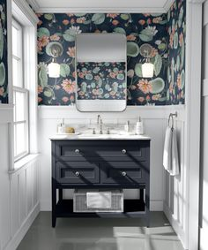 Wallpaper   Peel and Stick   Fabric Wallpaper   Cyan Wallpaper   Vintage Flower   Floral Wallpaper   Self Adhesive   Home Decor   Maat Luxe