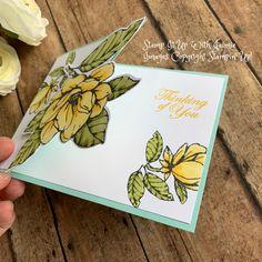Stampin' Up! Good Morning Magnolia Fun Fold – Stamp It Up with Jaimie Stampin' Up! Good Morning Magnolia Fun Fold – Stamp It Up with Jaimie Fun Fold Cards, Folded Cards, Folded Up, Stampin Up Catalog, Stamping Up Cards, Card Patterns, Card Tutorials, Sympathy Cards, Greeting Cards Handmade