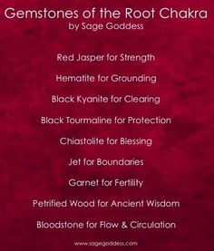 Gemstones for the Root Chakra | In #China? Try www.importedFun.com for award winning #kid's #science |