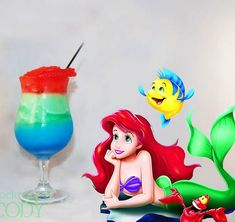 Disney Cocktails – The cocktail recipes inspired by Disney characters and princesses for my hen do maybe? Party Drinks, Cocktail Drinks, Fun Drinks, Yummy Drinks, Cocktail Recipes, Alcoholic Drinks, Cocktail Disney, Disney Cocktails, Hen Night Ideas