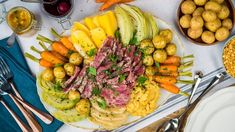 This Newfoundland Sunday staple is Alan Doyle approved. Root Veggies, All Vegetables, Jiggs Dinner, Newfoundland Recipes, Canadian Cuisine, Carrot Greens, Green Cabbage, Serving Platters, Food Design