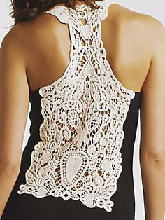 Maxi dress with a crochet back.  http://sussle.org/c/Crochet/1382331821.1936