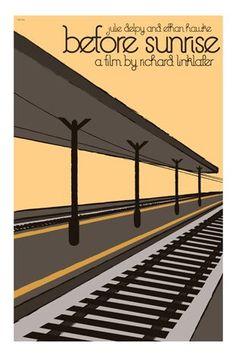 Before Sunrise (1995) ~ Minimal Movie Poster by Claudia Varosio