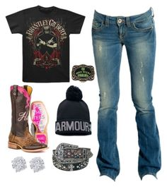 """""""G.R.I.N.S."""" by im-a-jeans-and-boots-kinda-girl on Polyvore featuring GUESS, Under Armour, John Deere, Effy Jewelry and country"""