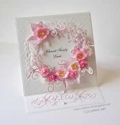 Colorina, Card with flowers