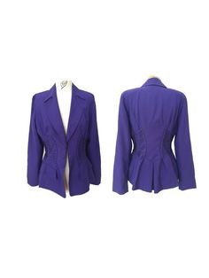 1980s MUGLER  purple laced blazer  and by louloufrenchvintage