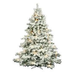 Shop for Vickerman Flocked White-on-Green PVC Flocked Alaskan Pine Artificial Christmas Tree with 1200 Warm White LED Lights. Get free delivery On EVERYTHING* Overstock - Your Online Christmas Store! Get in rewards with Club O!