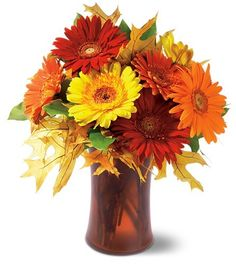 Forest Lake Floral - Autumn Gerberas, (http://www.forestlakefloral.com/autumn-gerberas/)