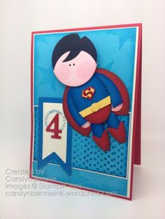 Superman punch art and the Super Hero 4 year old Party -http://carolynbennieink.wordpress.com