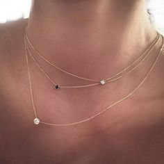 Slim strands and solitaires. #etsyjewelry♡➳ Pinterest: miabutler ♕☾♡