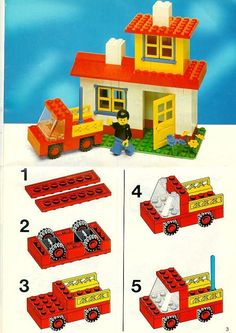 Thousands of complete step-by-step printable older LEGO® instructions for free. Here you can find step by step instructions for most LEGO® sets. Lego Duplo, Manual Lego, Auto Lego, Notice Lego, Legos, Lego Autos, Modele Lego, Construction Lego, Classic Lego