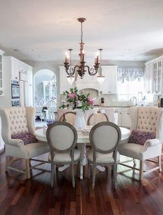 Kelley Nan: Summer Home Showcase - blue dining room in Sherwin ...