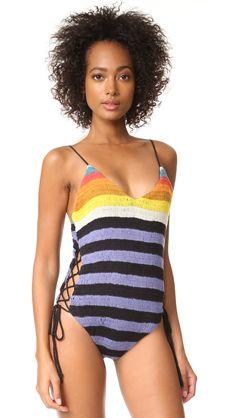 ee3c52aa60 Crochet Lace Up Side One Piece Crochet Lace