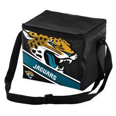 NFL Big Logo Stripe 6 Pack Cooler-Jacksonville Jaguars, Jacksonville Jaguars