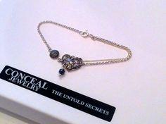 silver bracelet with silver oxidized details & hematite mini ball